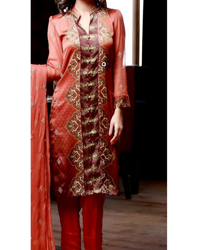 Silk Lawn Suit 5 Stitched